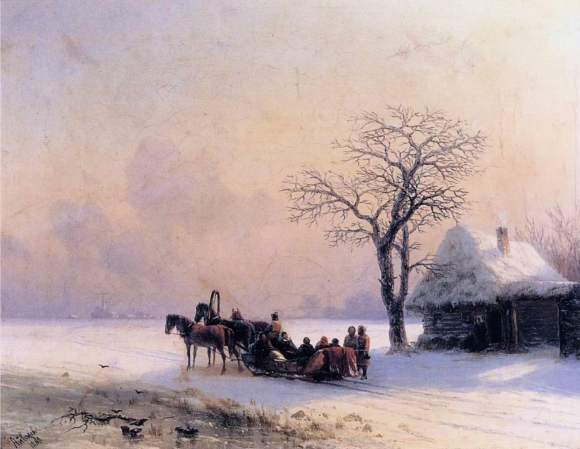 Ivan_Constantinovich_Aivazovsky_-_Winter_Scene_in_Little_Russia