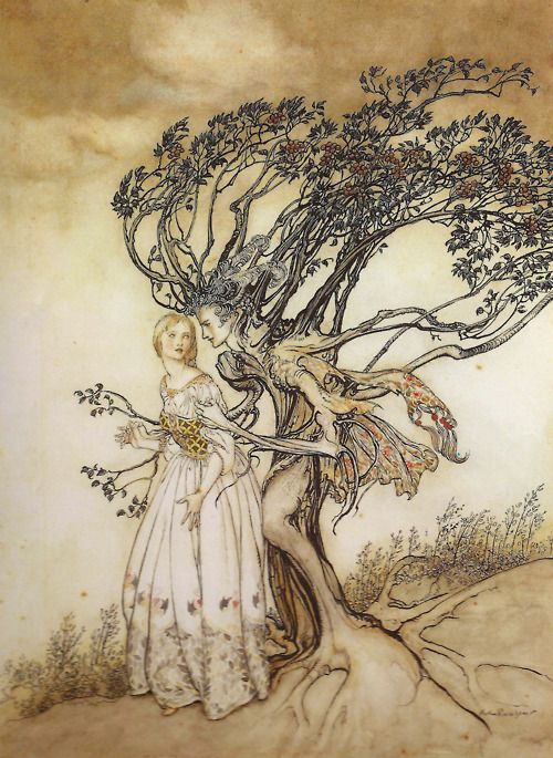 Arthur Rackham - The Old Woman in the Wood