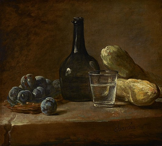 Jean Baptiste Simeon Chardin - Still Life with Plums